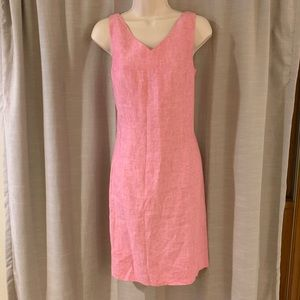Talbots Linen Sheath Dress
